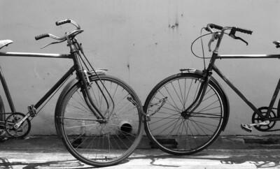 Bikes  From 35mm B&W negative