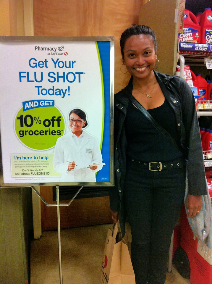 Would you take a flu shot from this woman?
