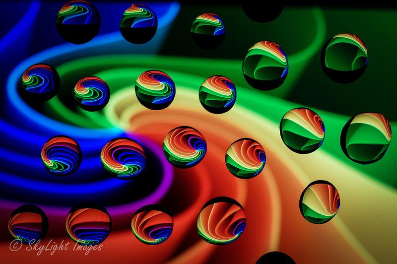 Twisting Rainbow (water drops)