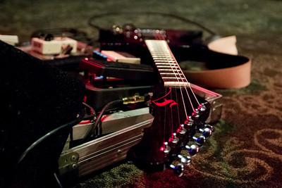 Guitar on stage, 10/27/2012, Slim's, San Francisco