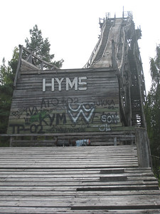 Ski jumping hill in Hyvinkaa, Finland