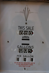 Obsolete gas pump