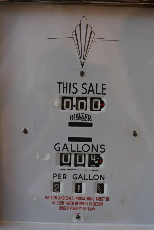 Obsolete gas pump