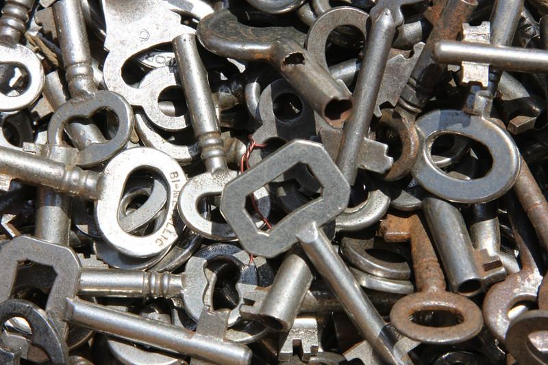 Old keys in Flea Market