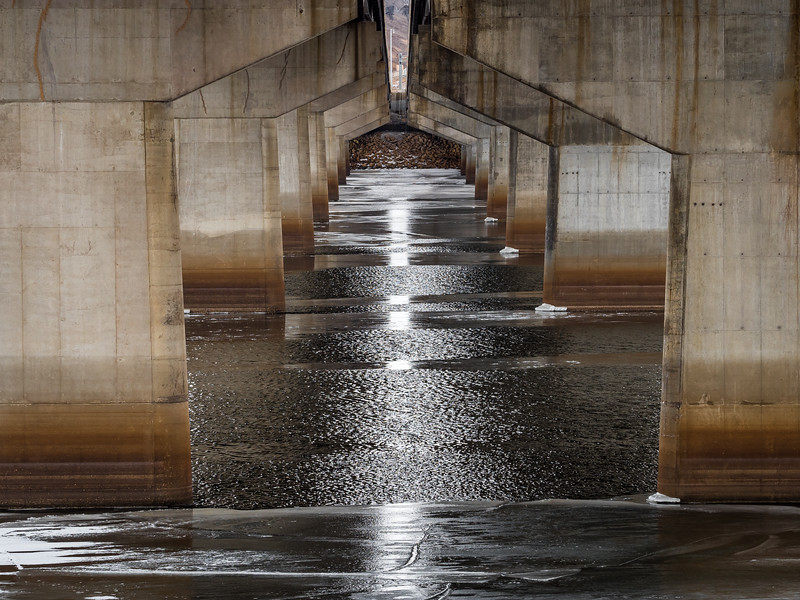 Water and Ice Under the Bridge