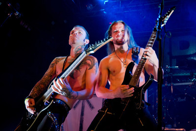 Tyr, 9/11/2012, DNA Lounge, San Francisco  It's not every week you get photos of half naked rockers from Faroe Islands. Tyr is one of very few bands that have more fans on Facebook than the whole population of their home country. This folk-metal band takes old Norse tales and turns them into metal songs. They have been getting more and more popular around the world and signed record deal with Metal Blade Records right after the tour where I had the privilege to photograph them.
