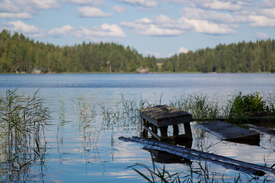 We took a holiday to Finland in August and this shot represents countryside for me. I'm from Imatra, a small town by Lake Saimaa, the biggest lake in FInland. The water was exceptionally high because of long rainy period and all small piers in front of lakeside saunas were submerged. Now I miss the quiet.