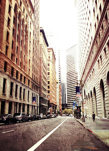 """Downtown San Francisco with Camera Awesome. The cameras in phones don't really match up with """"real"""" cameras, but what started as attempt to hide the shortcomings with filters and textures has turned into a art form for many iPhone, Android and other mobile photographers."""