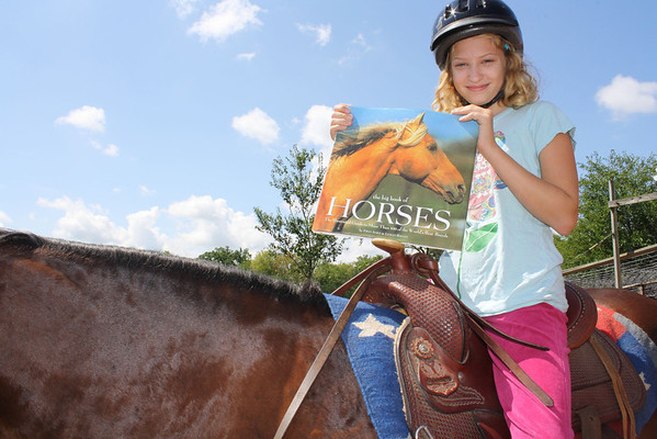 As my 10 year old granddaughter, Elise, begins to learn to ride she has found a wealth of books to help her understand horses and how to ride.  She is off to a great beginning.   Reading is important in every day matters to gain an understanding of new things and improve on what you already know.     Betty Miller    Union, IL