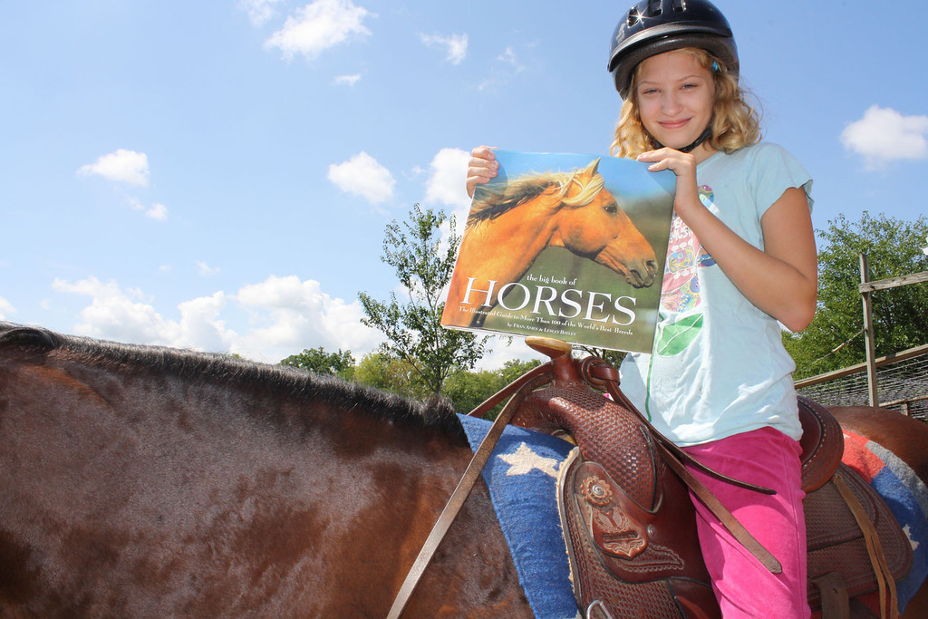 As my 10 year old granddaughter, Elise, begins to learn to ride she has found a wealth of books to help her understand horses and how to ride.  She is off to a great beginning.   Reading is important in every day matters to gain an understanding of new things and improve on what you already know.  <br />  <br /> Betty Miller<br />    Union, IL