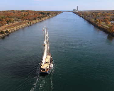S/V Peacemaker from the Sagamore Bridge