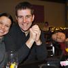 Mandy, Elliot, and a sleepy Vienna at Gordon Biersch during Eric's birthday party.