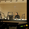 A view from the control room into one of KQED's recording studios