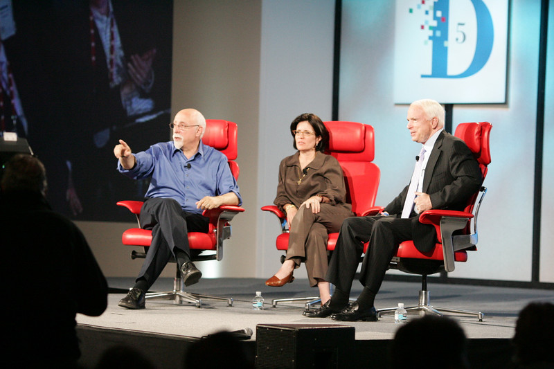Senator John McCain on stage with Walt and Kara