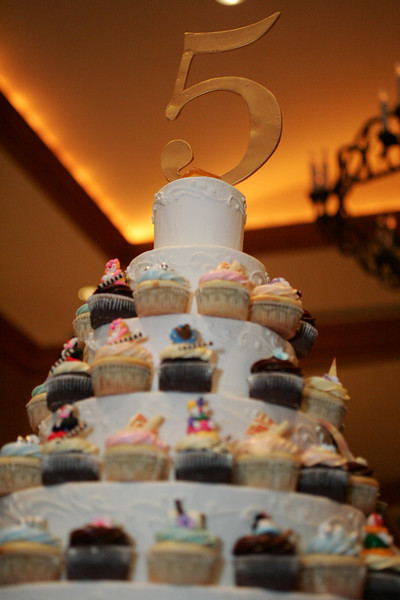 The D5 Anniversary Cupcake Tower