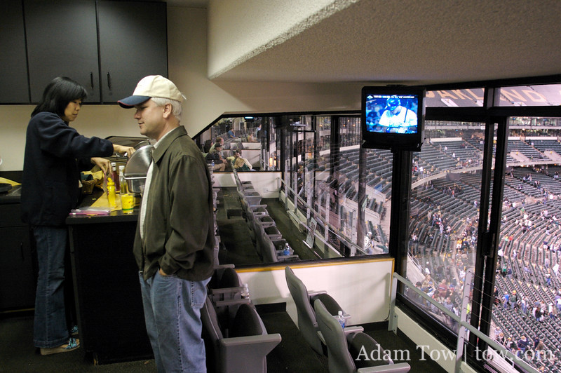 Inside the box suite.