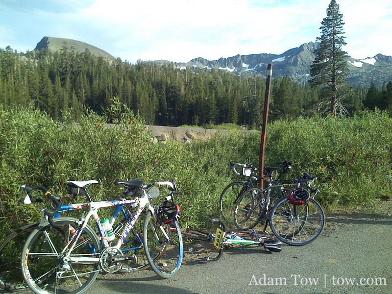 Bikes atop Carson Pass.