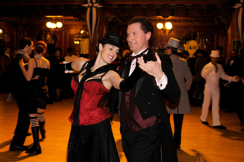 Ballroom dancing at its finest during the Edwardian Ball in San Francisco on January 27, 2007.