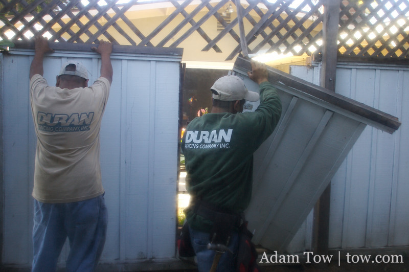 Duran Fencing removing panels