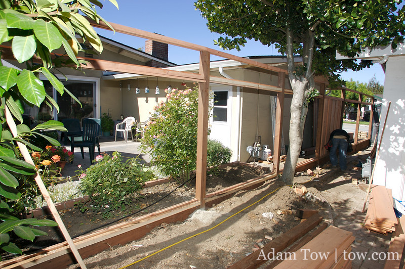 The new fence frame.