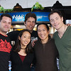 Aaron Douglas, Michael Trucco, and Tahmoh Penikett pose with us during their signing at San Francisco's Pier 39.