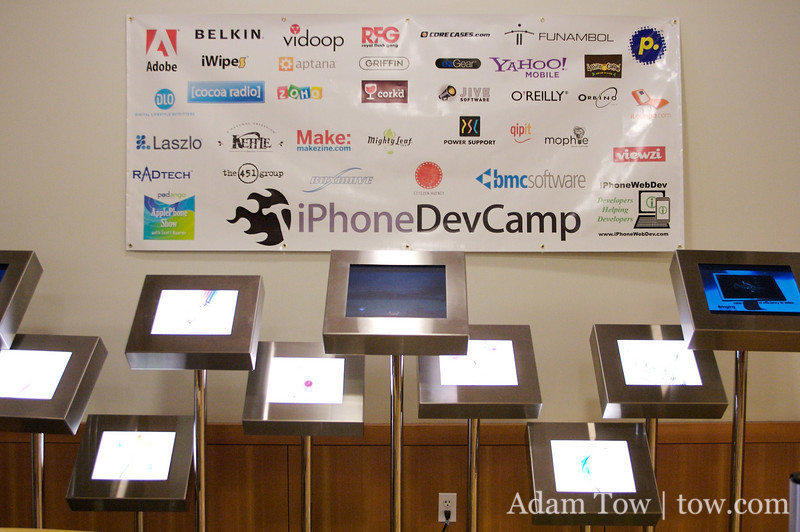 Thanks to the sponsors of the inaugural iPhoneDevCamp!