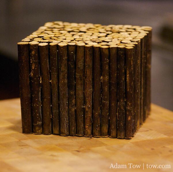 Wood branch brick