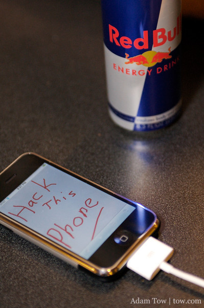 Only Red Bull can assist in hacking this iPhone!