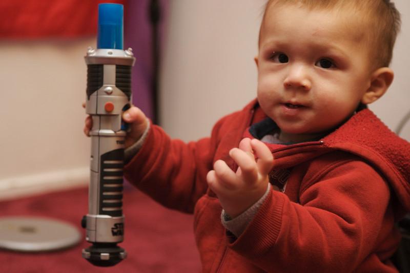 Max is preparing to become a Jedi Padawan.