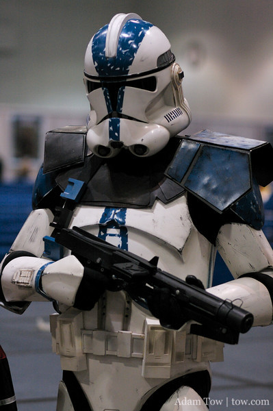 A clonetrooper at Star Wars Celebration IV.