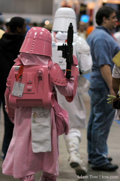 Pink is in for this snowtrooper.