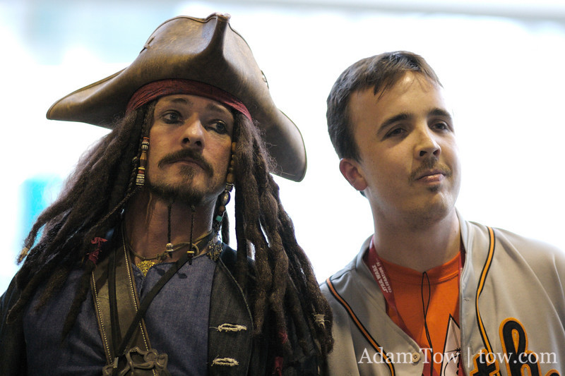 Even Captain Jack took time off to attend Star Wars Celebration IV!