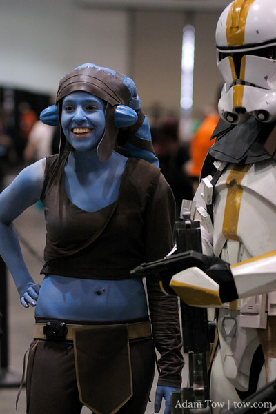 She won't be smiling when the clonetroopers turn against her on Felucia.