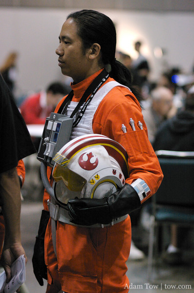 Let's hope he fairs better than Biggs and Red Leader.