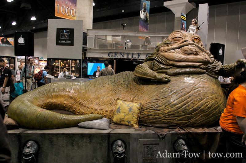 Life-size Jabba the Hutt at Star Wars Celebration IV.