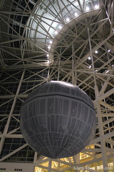 Inflatable Death Star at Star Wars Celebration IV