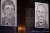 WSJ drawings of Bill Gates and Steve Jobs adorn the Grand Ballroom at the Four Seasons Aviara Hotel and Resort in Carlsbad, California.