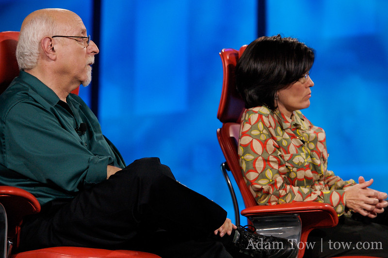 The hosts of D5, Walt Mossberg and Kara Swisher.