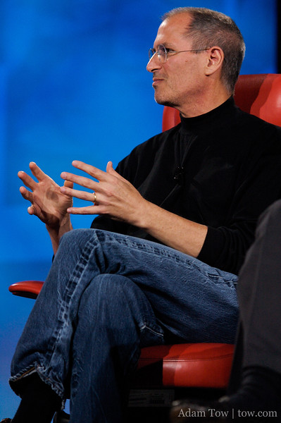 The classic black turtleneck and blue jeans, as worn by the inimitable Steve Jobs.