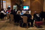The overflow press room following the historic Gates-Jobs interview at the D5 Conference in Carlsbad, California.