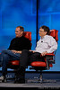 Two titans of the computer industry, Steve Jobs and Bill Gates, together onstage at D5.