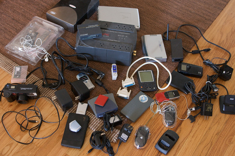 All of the e-waste that I donated to Goodwill. What once cost hundreds of dollars now is nearly worthless.