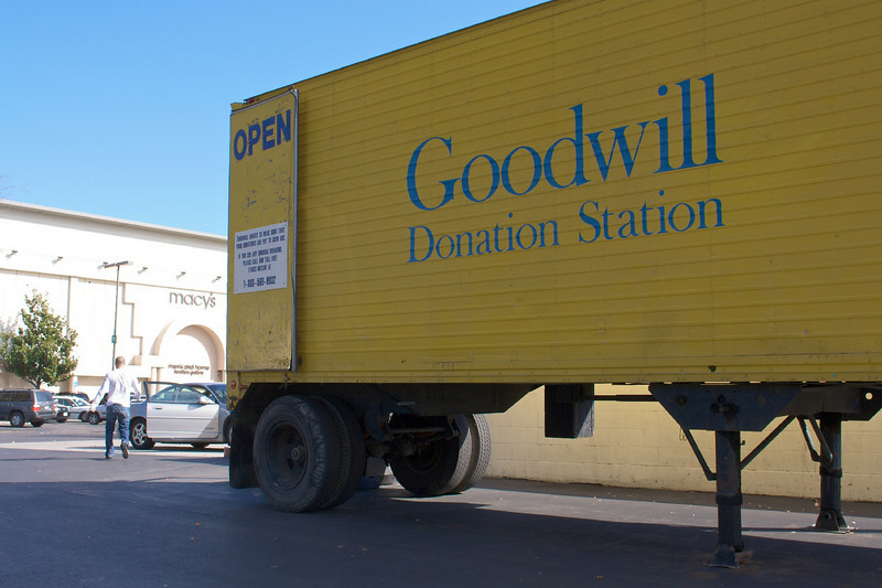I donate a bunch of e-waste to the Goodwill truck in the Valley Fair parking lot.