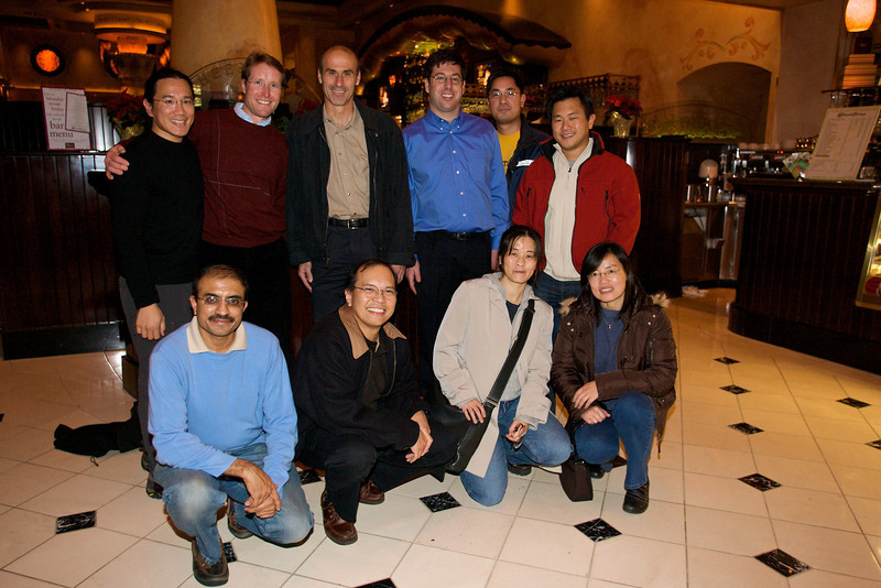 Group photo from the Palm Content and Access Reunion party in Palo Alto.