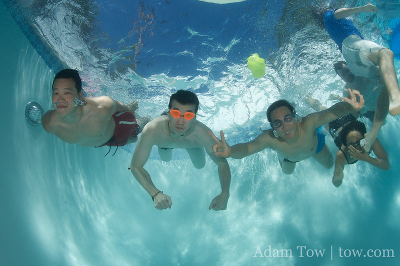 And away we go underwater!