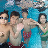 The Young family underwater portrait take 4.
