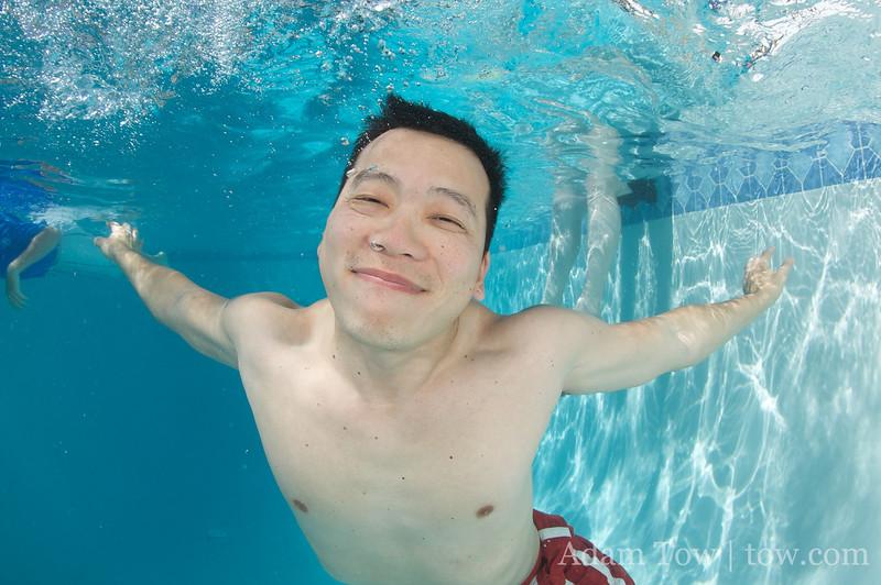 Tim underwater.