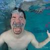 Dave struggles underwater.