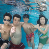 The Young family underwater portrait take 3.
