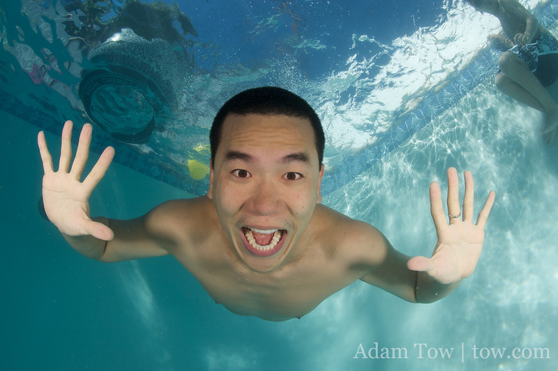 Eric Cheng is well versed with posing underwater, unlike the rest of us.